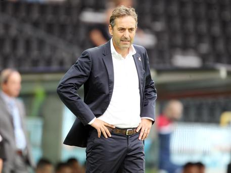 Lallenatore dell'Empoli,Marco Giampaolo, during the Italian Serie A soccer match between Udinese Calcio and Empoli FC at Friuli Stadium in Udine, 19 September 2015. ANSA/ LANCIA