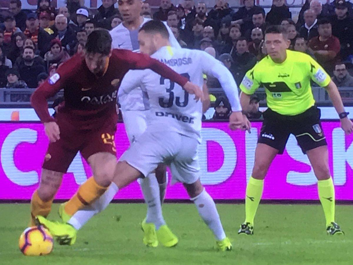 D'Ambrosio vs Zaniolo-Roma-Inter-rigore