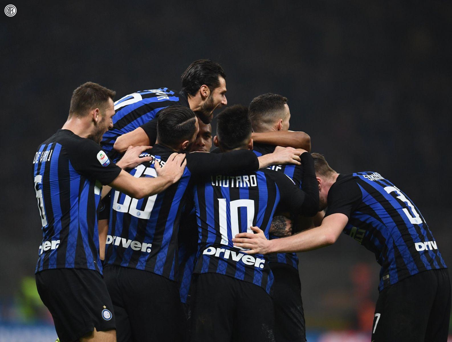 Inter vs Sampdoria, 2-1, esultanza