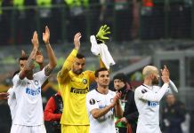 Inter Rapid Vienna Europa League, esultanza finale