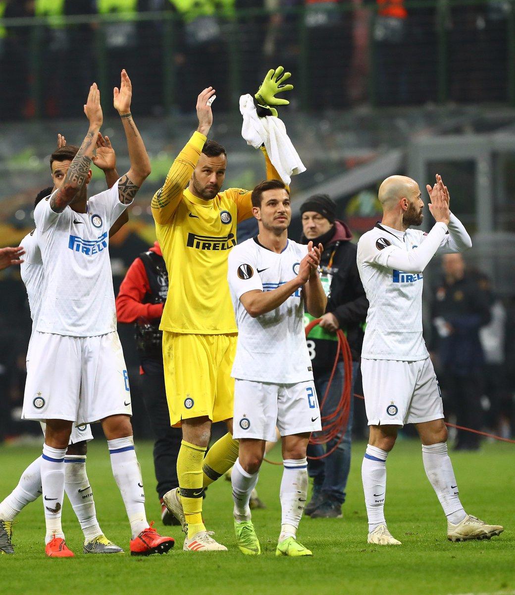 Inter Rapid Vienna Europa League, esultanza finale