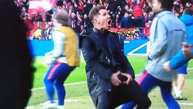 Diego Simeone esultanza Atletico Madrid vs Juventus