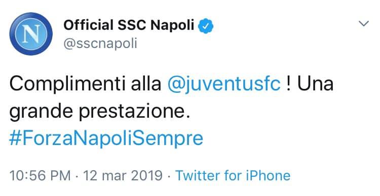 Napoli tweet