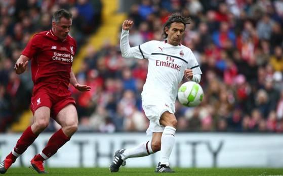 Inzaghi Carragher Liverpool vs Milan Legends La Presse