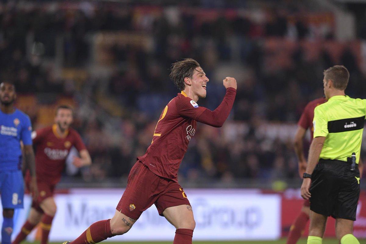 Nicolò Zaniolo Roma vs Fiorentina