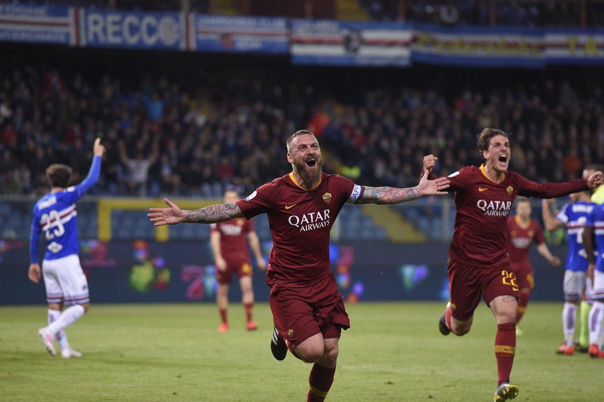Sampdoria vs Roma, De Rossi - Zaniolo