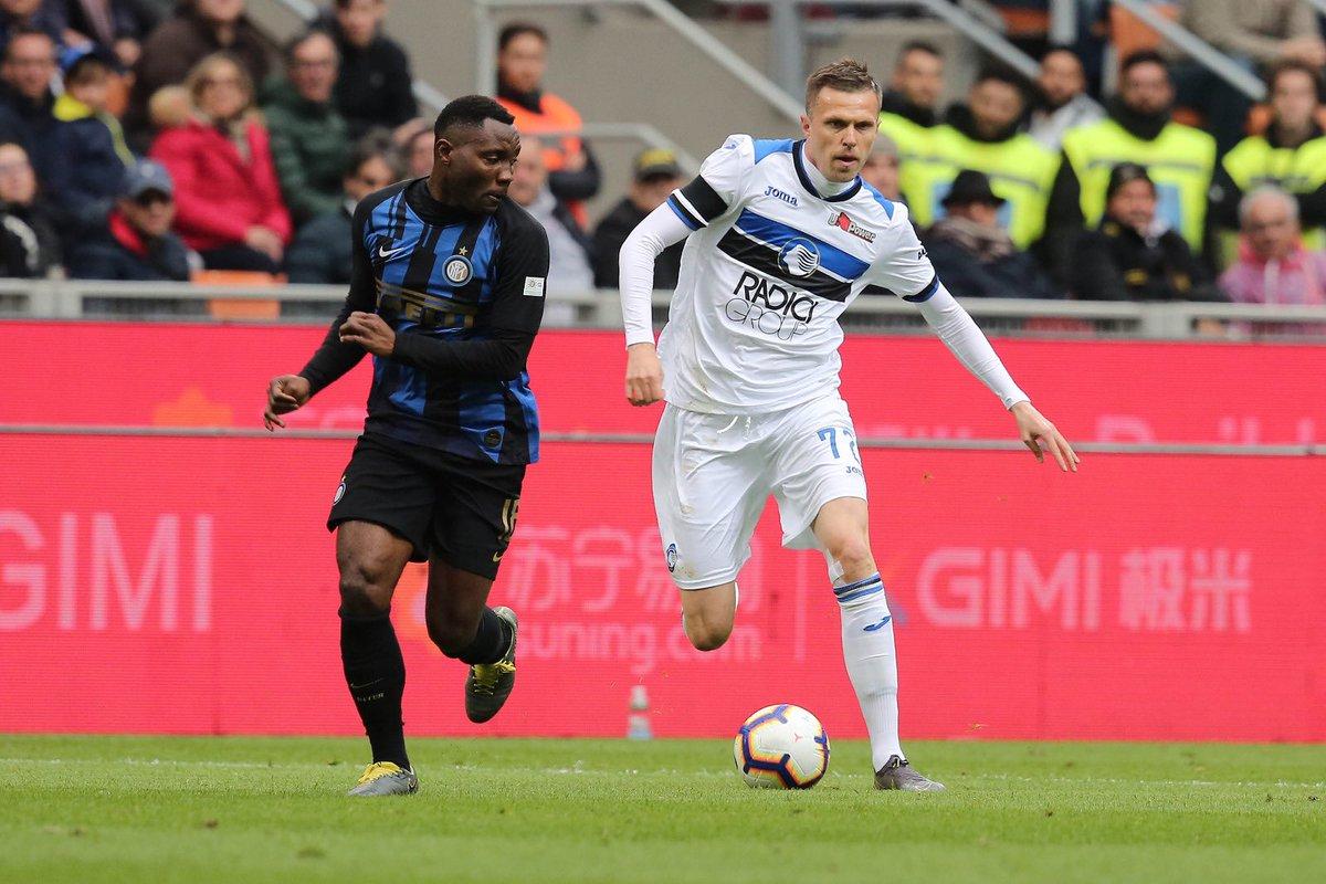 Inter vs Atalanta Asamoah vs Ilicic