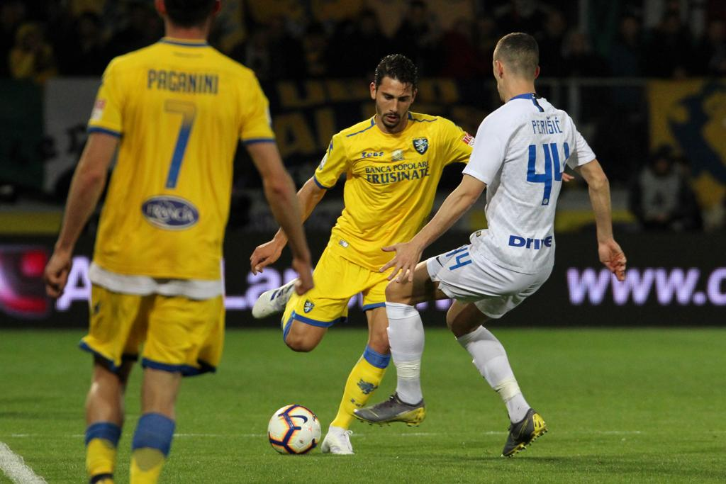 Il Frosinone tira fuori la testa e l'Inter soffre