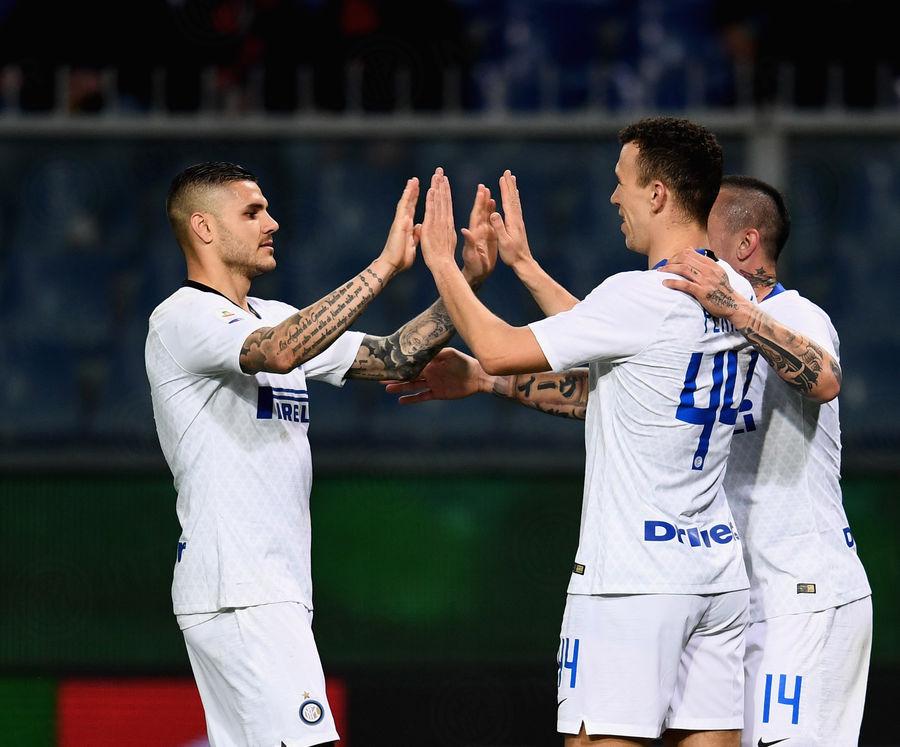 Perisic Icardi Genoa vs Inter