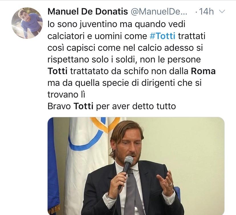 addio Totti alla Roma