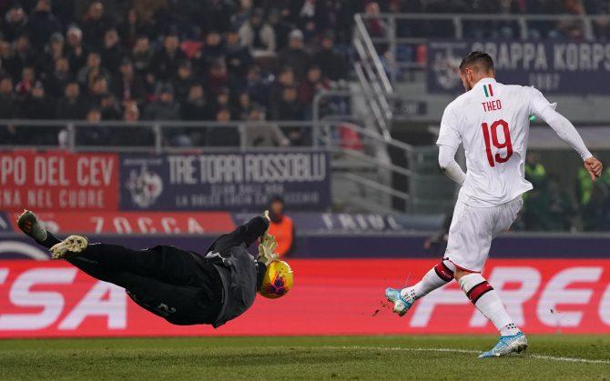 Theo Hernandez spiazza Musso e mette a segno il 2-1 contro l'Udinese