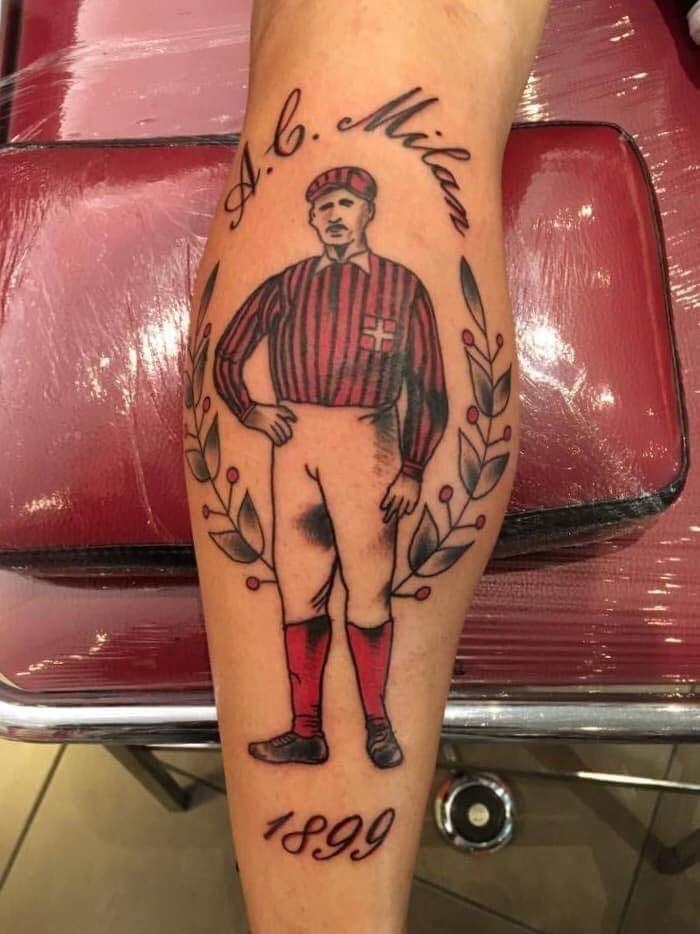 tatuaggio milan tifoso tattootball