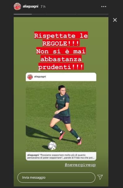 alia guagni covid instagram