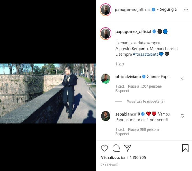 video addio Gomez
