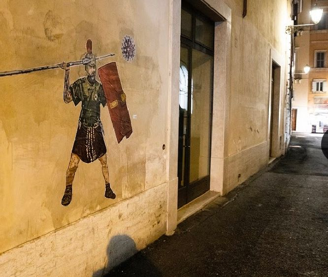 laika street art De Rossi